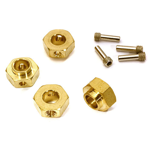 하비몬12mm Hex Wheel (4) Hub Brass 5mm Thick for Traxxas TRX-4 Scale & Trail Crawler[상품코드]INTEGY