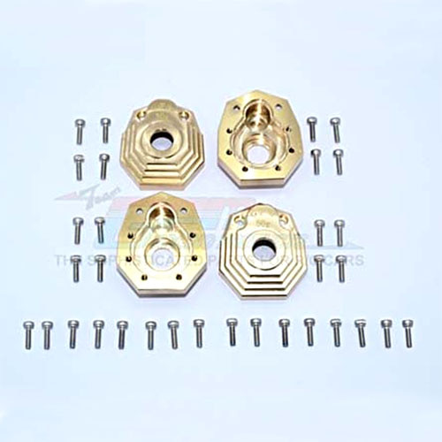 "하비몬[4개 한대분] TRX-4 Brass Outer Portal Drive Housing (Front and Rear) ""Heavy Edition - 50g""[상품코드]GPM"