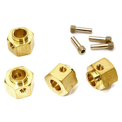 하비몬12mm Hex Wheel (4) Hub Brass 8mm Thick for Traxxas TRX-4 Scale & Trail Crawler[상품코드]INTEGY