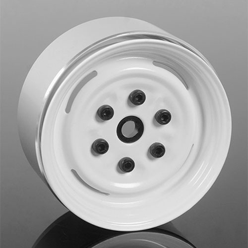 "하비몬[4개 한대분] Vintage Yota 6 Lug Stamped Steel 1.55"" Beadlock Wheels (White)[상품코드]RC4WD"
