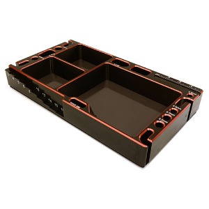 하비몬[#C27180RED] Universal Workbench Organizer 145x80x20mm Workstation Tray (Red)[상품코드]INTEGY