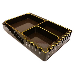 하비몬[#C27181GOLD] Universal Workbench Organizer 120x80x20mm Workstation Tray (Gold)[상품코드]INTEGY
