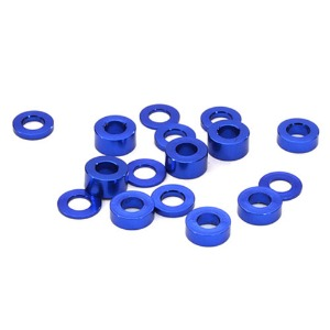 하비몬Billet Machined 16pcs Aluminum M3x6 Washer Spacer (0.5, 1.0, 2.0, 3.0mm) (Blue)[상품코드]INTEGY