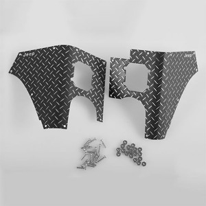 하비몬[#VVV-C0063] Rear Diamond Plates Corner Set for Tamiya Jeep Wrangler (CC-01) (Black)[상품코드]CCHAND
