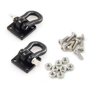 하비몬1/10 RC Rock Crawler Accessories Heavy Duty Shackle w/ Mounting Bracket Fit 3Racing CR01-27 Winch Black[상품코드]YEAH RACING