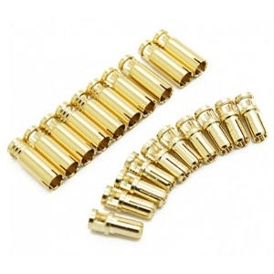 하비몬4mm Supra X Gold Bullet Connectors (10 pairs)[상품코드]RCPROPLUS