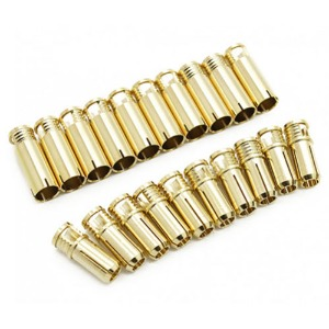 하비몬6mm Supra X Gold Bullet Connectors (10 pairs)[상품코드]RCPROPLUS