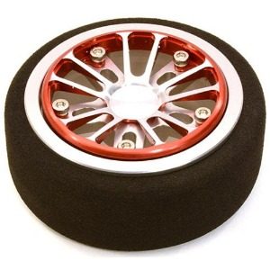 하비몬Billet Aluminum T2 Steering Wheel for Futaba 4PX/7PX Radios (Redsilver)[상품코드]INTEGY