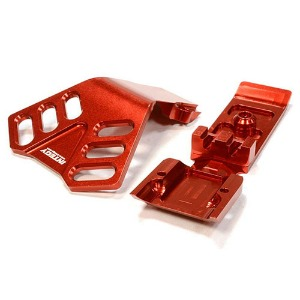 하비몬Billet Machined Front Skid Plate for Traxxas 1/10 Scale Summit 4WD (Red)[상품코드]INTEGY