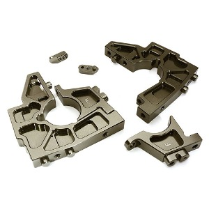 하비몬Billet Machined Front Bulkhead Set for Losi 1/5 Desert Buggy XL-E (Grey)[상품코드]INTEGY