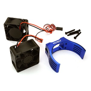 하비몬Billet Machined Motor Heatsink & Cooling Fans for Losi 1/5 Desert Buggy XL-E (Blue)[상품코드]INTEGY