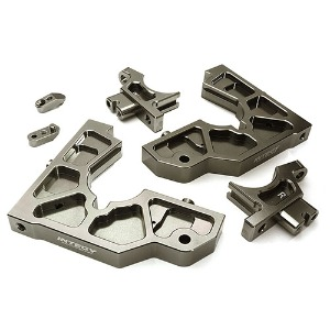 하비몬Billet Machined Rear Bulkhead Set for Losi 1/5 Desert Buggy XL-E (Grey)[상품코드]INTEGY