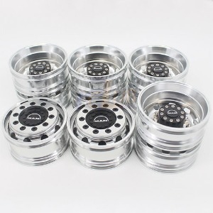 하비몬1:14 Tractor Trucks Wheels for MAN 6x4 Truck Wheel Set (Wide Front Wheel)[상품코드]-