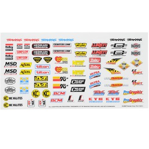 하비몬Racing Sponsors Decal Sheet[상품코드]TRAXXAS