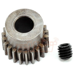 하비몬[#2022] Hard Steel 5mm Bore Machined 48 Pitch 22T Pinion Gear For 5mm Shaft Motors[상품코드]ROBINSON RACING