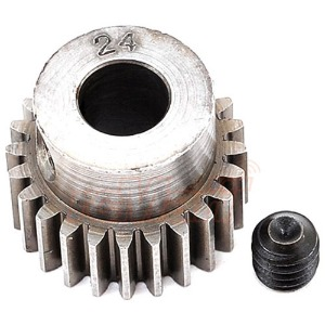 하비몬[#2024] Hard Steel 5mm Bore Machined 48 Pitch 24T Pinion Gear For 5mm Shaft Motors[상품코드]ROBINSON RACING