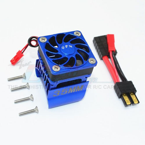 하비몬[#TRX4018FAN-B] TRX-4 Alum. 35mm Motor Heatsink w/Cooling Fan[상품코드]GPM