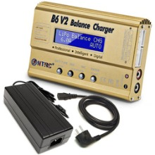 하비몬B6 V2 Balance Charger 80W 6A w/12V 10A Power Supply[상품코드]-
