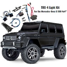 하비몬[#CB82096-4-BLK-LED] [마지막1대 - LED 키트 #8898 포함] 1/10 TRX-4 Trail Crawler Truck w/Mercedes G500 4x4² Body (Black)[상품코드]TRAXXAS